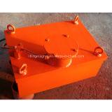 Separador magnético elétrico industrial retangular para o material do ferro