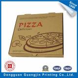 Caja de cartón ondulado de papel Kraft marrón para envasado de pizza