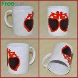Сублимации сердца 11oz Freesub кружка Skb-05r цвета любящий изменяя