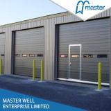 Гальванизированная стальная промышленная секционная надземная дверь гаража/автоматическая дверь гаража