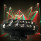 Doppeltes Head LED Spider Light 8 Eyes 10W RGBW 4in1 Moving Head