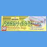La bolsa de plástico reutilizable de la cerradura del cierre relámpago