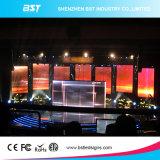 Alta pantalla de visualización de interior a todo color negra de LED del alquiler del contraste P4.8 SMD2121 LED para la demostración de la etapa