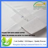 密封されるUの形のジッパー様式のベッドバグの証拠の抗菌性のマットレスの保護装置を包む