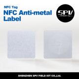 Papel revestido Ntag216 ISO14443A de la etiqueta 13.56MHz del Anti-Metal de Nfc