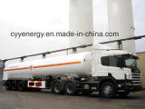 Liquid chimico Oxygen Fuel Tanker Semi Trailer con ASME GB