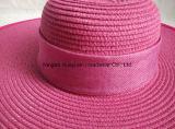 Sombrero de paja grande de la trenza de papel del borde