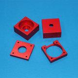 Blocchetto di alluminio lavorante di CNC con colore rosso che anodizza