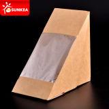La aduana imprimió el paquete claro del emparedado del papel de la ventana