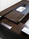Tabella esecutiva della sporgenza di legno a forma di L nera di alta qualità (HF-SIG326)