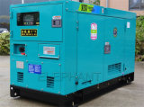 poder diesel silencioso do gerador de 100kVA Denyo por Mitsubishi