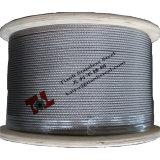 AISI 304 스테인리스 철사 밧줄 7X19 4mm