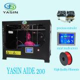 Impresora grande 3D de la alta precisión 220*200*200m m/impresora profesional del marco 3D del metal