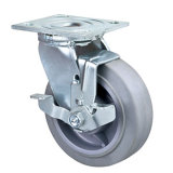 Hochleistungsschwenker 5inches Performa (TPR) Fußrolle mit Metallgesamtbremse