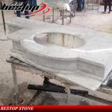 Оптовый белый мраморный Countertop тщеты ванной комнаты
