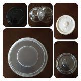 Tampa plástica do copo que dá forma à máquina