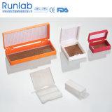 Коробка хранения скольжения микроскопа места 100 с шарнирным валиком
