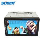 Reproductor de DVD del coche del jugador de multimedia del estruendo del doble de la alta calidad de Suoer (MP-1069)