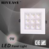 La luz LED 9W COB luz LED Paneles solares Sharp Corner de alta potencia con CE y RoHS Panel de luz LED