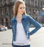 Rivestimento sottile elastico del denim dei vestiti delle donne di alta qualità nuovo