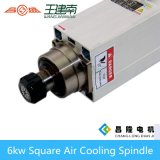 Er32 Collet를 가진 6kw 5.5A Square Air Cooling Spindle