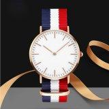 OEMの超薄い合金の腕時計の高い等級の革バンドの腕時計