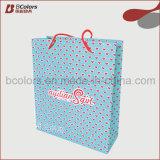 로고를 인쇄하는 접히는 쇼핑 종이 봉지를 착색하십시오