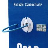 O gigabit do cabo de LAN 305m de UTP CAT6 Solha-Passou a ponto de entrada o azul compatível