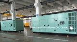 силы номинальности 700kVA 560kw генератор Pekins резервной звукоизоляционный тепловозный