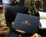 Бумажный габарит дела для подарка упаковывая с украшенный лиственным орнаментом логосом Wjl-En021