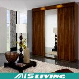 خشب رقائقيّ غرفة نوم خزانة ثوب مقصورة مع مرآة [سليد دوور] ([أيس-و193])