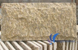壁のクラッディングまたはコーナーのための自然で黄色いきのこのスレートの石