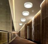 Da iluminação energy-saving de Brighteness do teto da lâmpada 6W do diodo emissor de luz superfície clara elevada para baixo montada em volta do painel do diodo emissor de luz