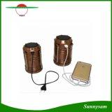 Tipo portatile 6 lanterna di campeggio solare ricaricabile di estensione del LED