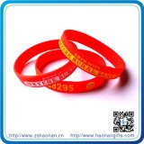Heißes Selling Event Silicon Bracelet mit Custom Logo (HN-SW-104)