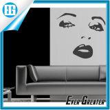 セクシーな美女のソファーの設定の背景の壁の芸術のステッカー