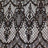 Tela del cordón del telar jacquar del nilón que hace punto para la ropa /Dress