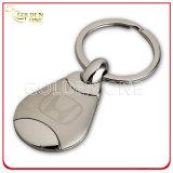 Anello chiave di cuoio timbrato caldo di figura rotonda di qualità superiore di promozione