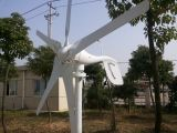 400W24V del Ce 3 o 5 generador de turbina horizontal de viento de las láminas