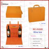 Caja de empaquetado del vino de la forma del caso de la alta gama (5518)