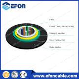 Cavo di fibra ottica di rinforzo Kevlar corazzato d'acciaio antiroditore 2-24core