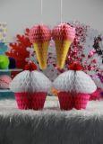 Linternas de papel colgantes barato chinas del panal de la alta calidad para la decoración