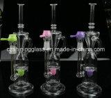 [رسكلر] ثلاثة لون زجاجيّة يدخّن [وتر بيب] مع لون ناشر داخليّة