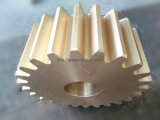 Engranaje de gusano de cobre amarillo (modificar la rueda de engranaje para requisitos particulares de cobre amarillo de la alta precisión)