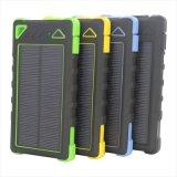 Carregador solar da bateria portátil universal do apoio do painel de 5V 2A 1USB 8000mAh com os 3 em 1 cabo