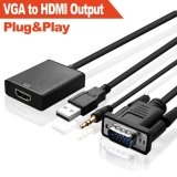 Audio del VGA al adaptador del cable de HDMI (HD LLENOS 1080P+Built-en chipset)