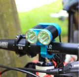 2 * 크리 T6 1500lumens 반사판 자전거 램프 높은 전력 자전거 라이트