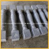 Asta della ringhiera rossa/grigia/bianca di pietra naturale della pietra del marmo del granito per l'inferriata