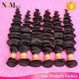 Direktes Großhandelsverwicklung-freies unverarbeitetes chinesisches Haar preiswerte Remy lockiges Haar-Bündel