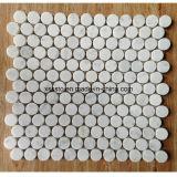 Малая круглая белая мраморный мозаика для украшения